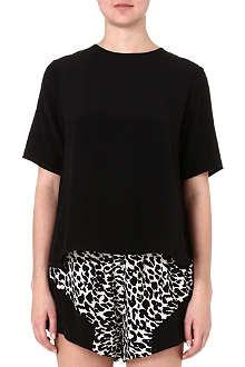 SUBOO Splice silk t-shirt
