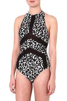 SUBOO Animal-print halterneck swimsuit