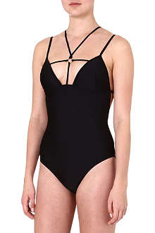 SUBOO Cut-out string swimsuit