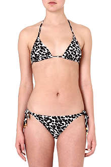 SUBOO Leopard print triangle bikini