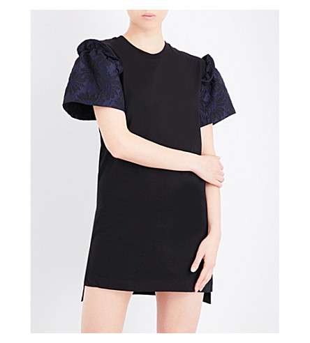 PRISM PRISM x Mother of Pearl Rena cotton-jersey T-shirt dress (Blue