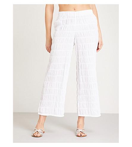 PRISM Monte Carlo organza trousers (White