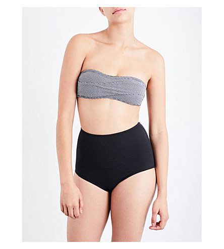 PRISM Barcelona houndstooth bandeau top (Micro+houndstooth