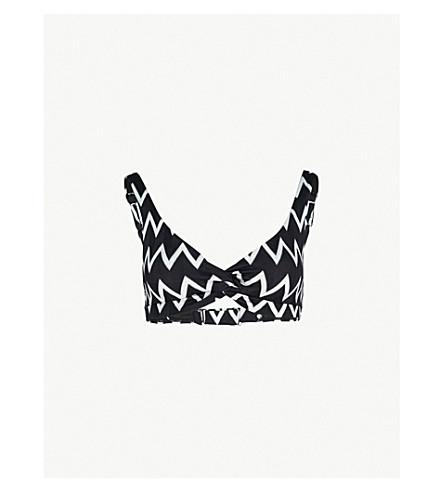 PRISM Búzios twist bikini top (Art+deco+chev