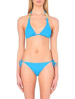 MOSCHINO Logo-detail triangle bikini