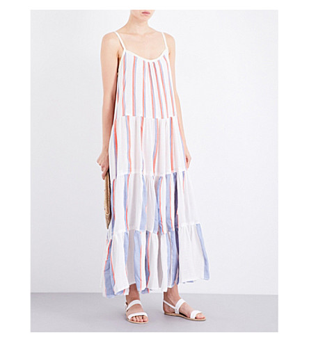 LEMLEM Mamo cotton-blend maxi dress (Natural