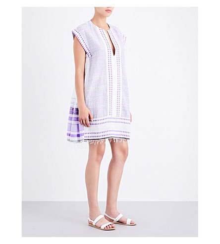 LEMLEM Yeshi cotton-blend kaftan dress (Violet