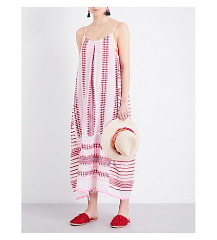 LEMLEM Tabtab cotton-blend slip dress (Scarlet