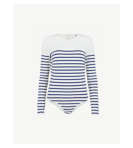 SOLID & STRIPED Margot swimsuit (Navy+breton