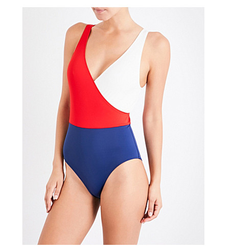 SOLID & STRIPED The Ballerina swimsuit (Firecracker