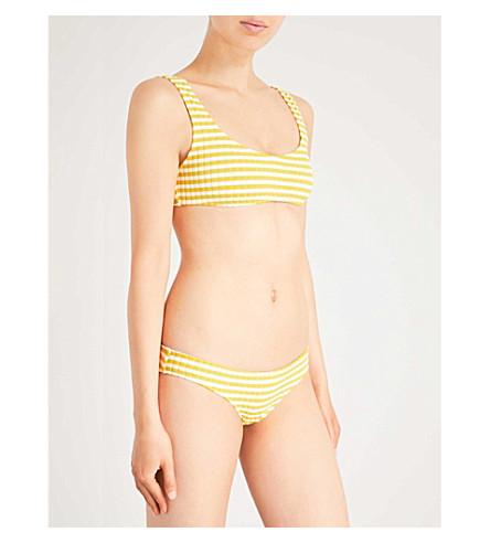 SOLID & STRIPED The Elle bikini top (Mustard+stripe+rib