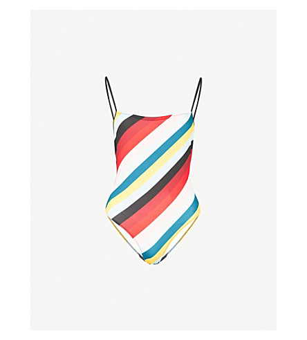 SOLID & STRIPED The Chelsea swimsuit (Diagonal+paradise+stripe
