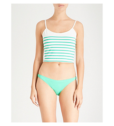 SOLID & STRIPED Nicole bikini top (Green breton