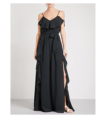 LAZUL Aida silk-crepe maxi dress (Ofra