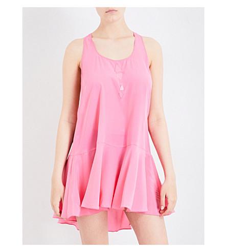 LAZUL Fefe silk-crepe dress (Pink