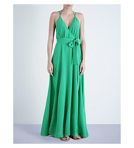 LAZUL Heather silk-crepe maxi dress (Lamiala