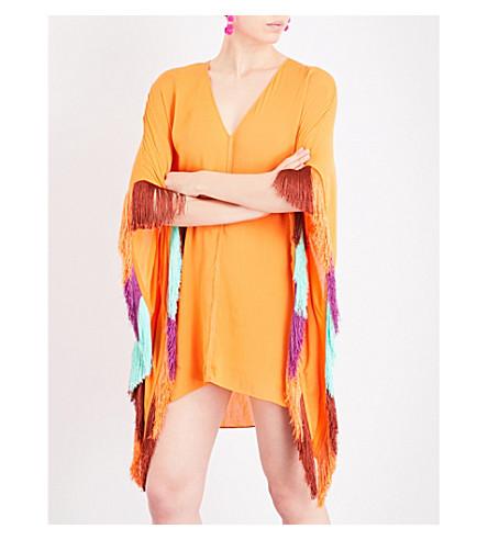 LAZUL Marlow crepe tunic kaftan (Sun+orange