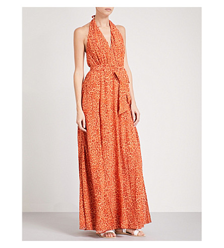 LAZUL Melba silk-crepe maxi dress (Jay+print