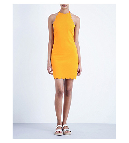 MARYSIA Mott scalloped mini dress (Papaya