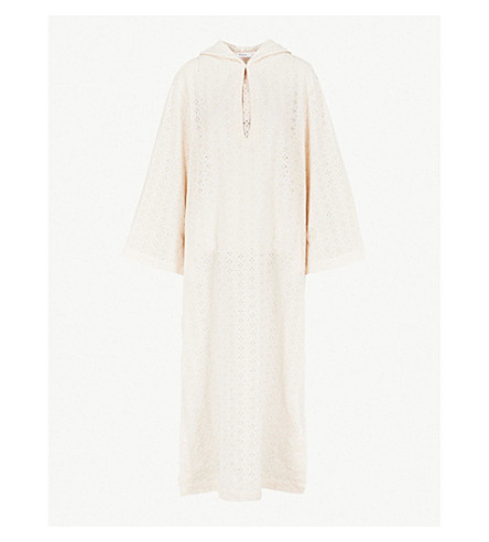 MARYSIA Hooded cotton-broderie anglaise dress (Panna
