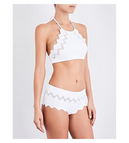 MARYSIA Aloha mesh-trim bikini top (Bright+white
