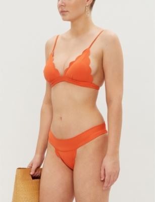 Santa Clara scalloped triangle bikini top