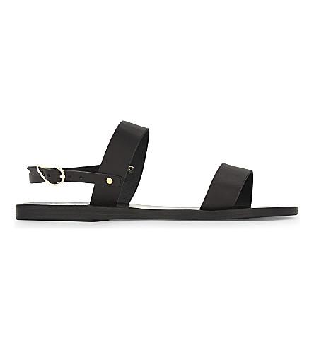 ANCIENT GREEK SANDALS Clio leather sandals (Black