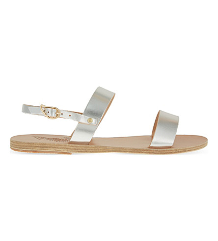 ANCIENT GREEK SANDALS Clio leather sandals (Silver