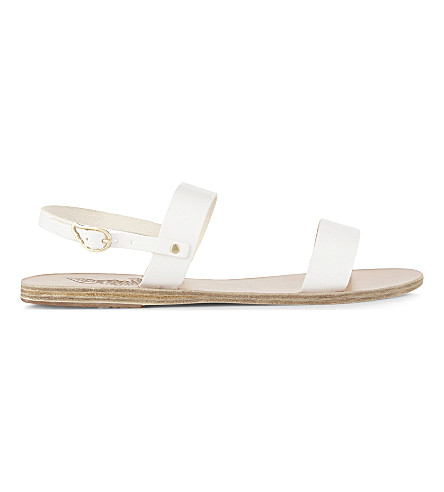 ANCIENT GREEK SANDALS Clio leather sandals (White