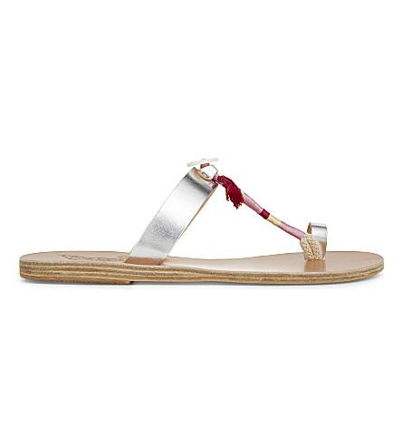 ANCIENT GREEK SANDALS Iris x lemlem leather sandals (Silver+pink