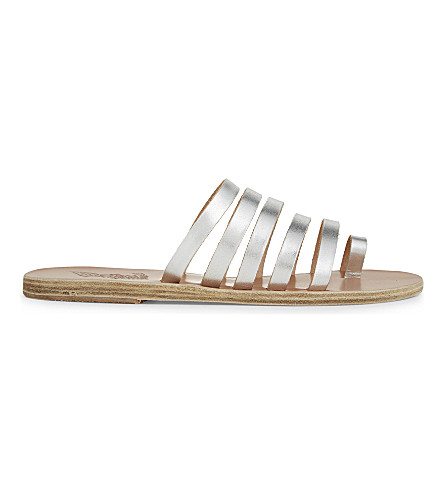 ANCIENT GREEK SANDALS Niki leather sandals (Silver