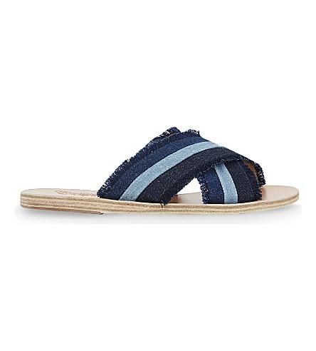 ANCIENT GREEK SANDALS Thais leather slider sandals
