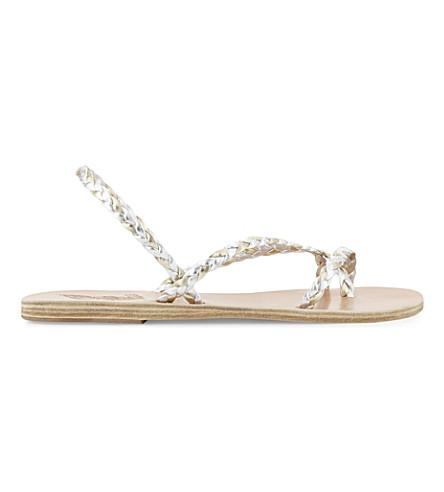 ANCIENT GREEK SANDALS Yianna leather sandals (Silver/platinum