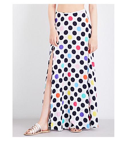 EMMA PAKE Bella polka dot-print crepe de chine maxi skirt (Xl+polka+dot
