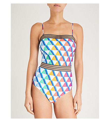 EMMA PAKE Monica bandeau swimsuit (Rainbow pyramid