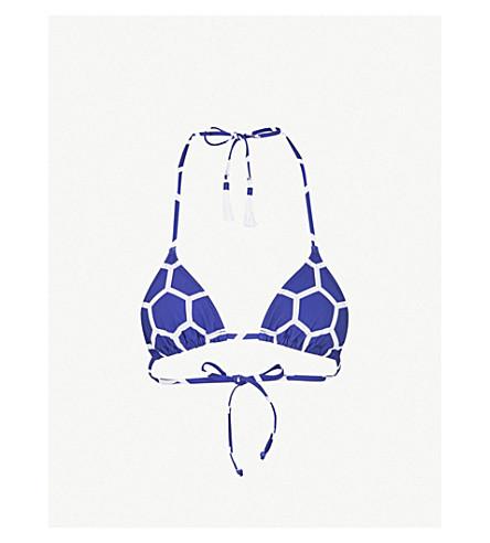 EMMA PAKE Esta halterneck bikini top (Xl+hexagon