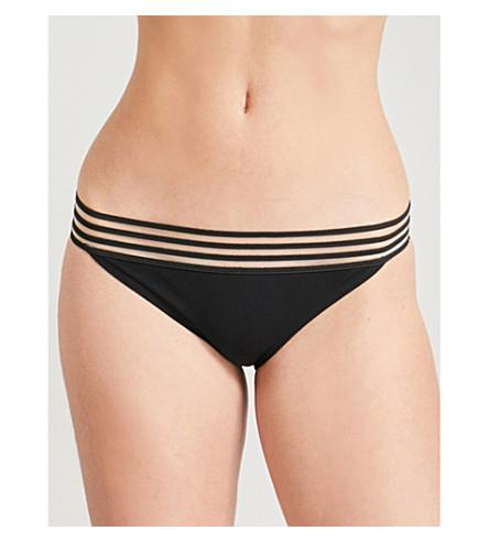 EMMA PAKE Adriana high-rise bikini bottoms (Black