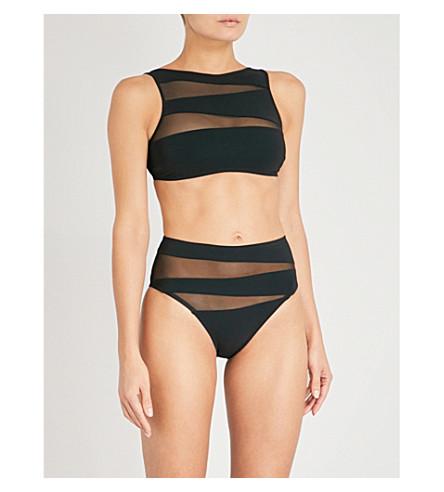 EMMA PAKE Oriana bikini top (Blk+mesh
