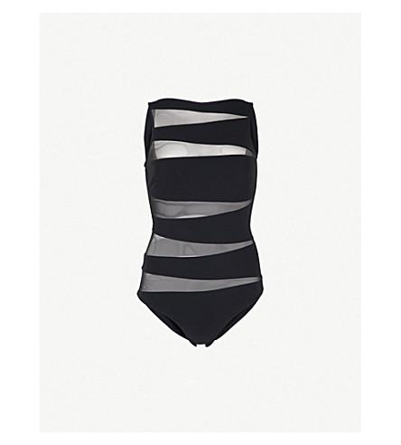 EMMA PAKE Valentina swimsuit (Blk+mesh