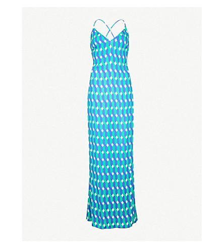 EMMA PAKE 几何图案梭织连衣裙 (装饰 + 波浪