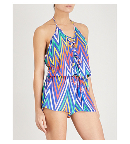 EMMA PAKE Bambi woven playsuit (Electric+rainbow