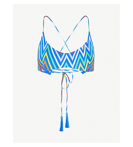 EMMA PAKE Chiari printed bikini top (Electric+rainbow