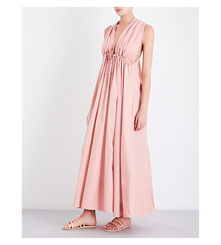 THREE GRACES LONDON Esilena halterneck cotton maxi dress (Blush
