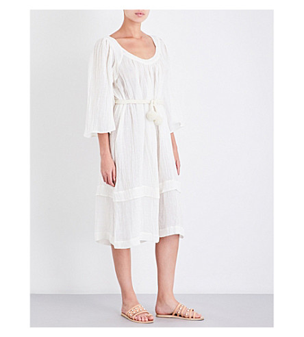 THREE GRACES LONDON Ilara linen-blend midi dress (Ecru