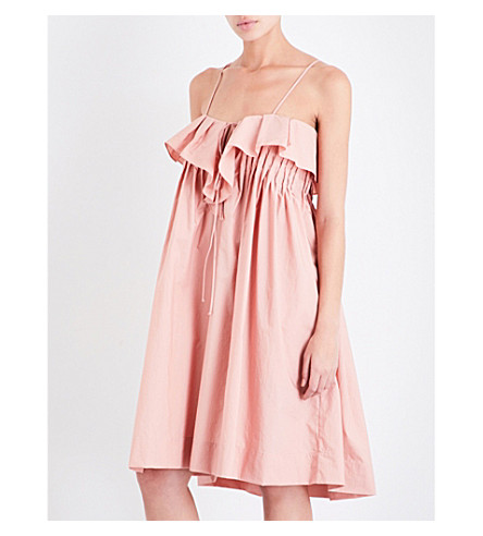 THREE GRACES LONDON Mirinda cotton-poplin dress (Blush
