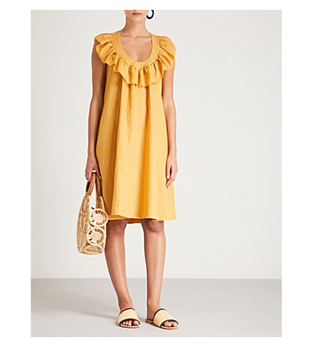 Topaz LONDRES Faye GRACIAS Vestido lino de TRES qw7pTYt