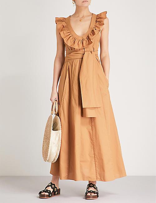 THREE GRACES LONDON Josephine cotton-poplin dress