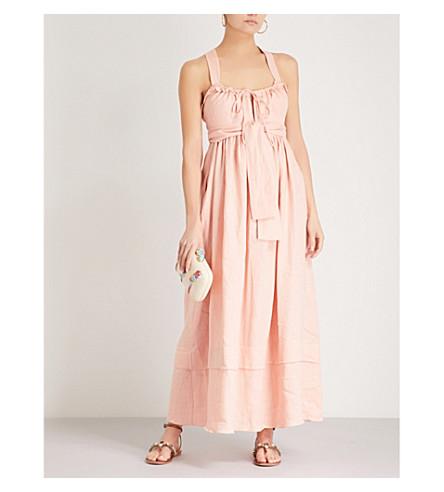 THREE GRACES LONDON Joan linen dress (Vintage+pink+linen