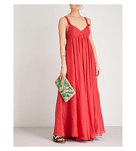 THREE GRACES LONDON Janie ramie dress (Rouge+lightweight+ramie