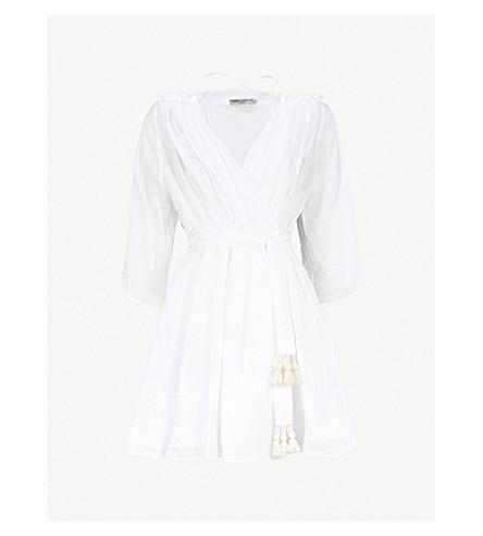 THREE GRACES LONDON Tessa ramie dress (White+lightweight+ramie